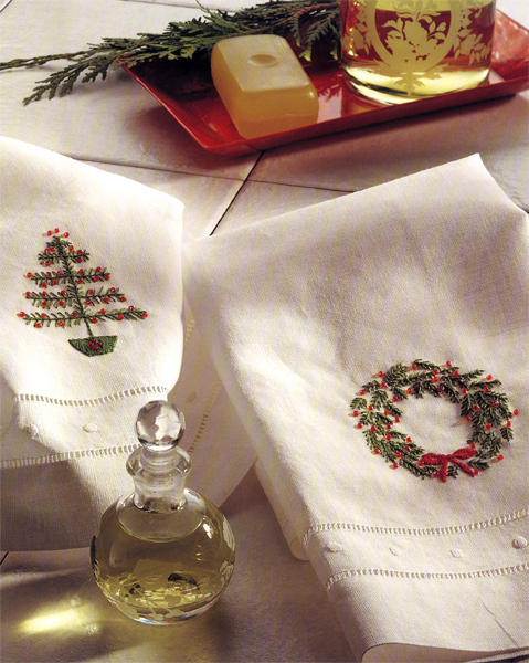 Embroidered-Christmas-Hand-Towels