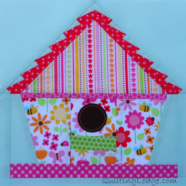 Free Quilt Patterns Of Houses : Free Quilt Pattern: Little Bird House Block