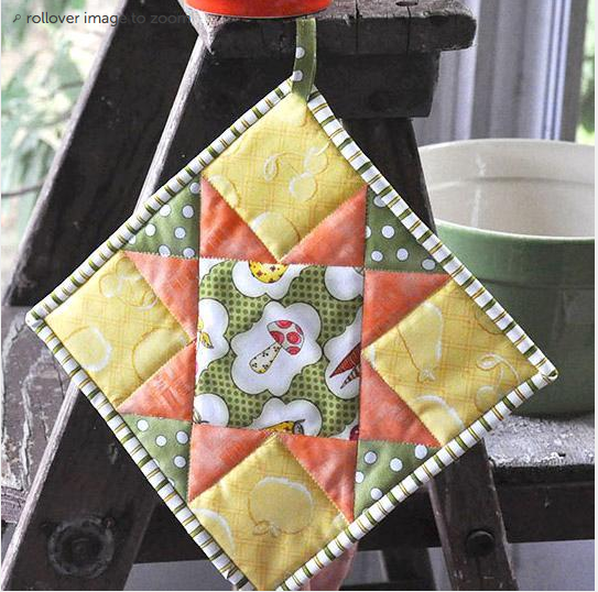 Free Quilt Pattern Quilted Potholder Tutorial Pattern I