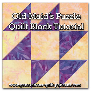 Free Quilt Pattern Old Maid S Puzzle Quilt Block I Sew Free