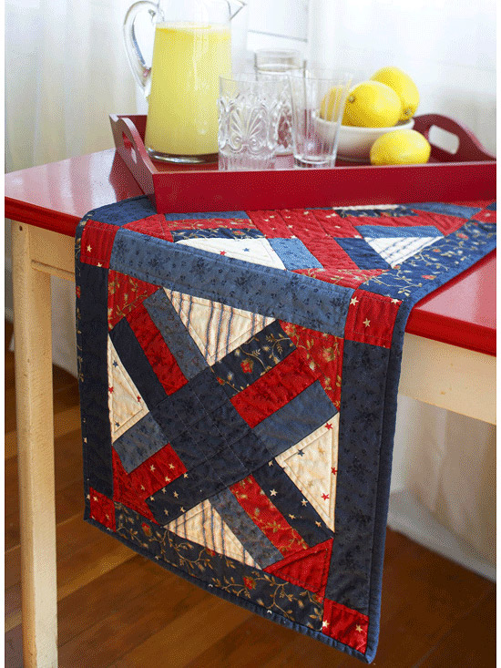 Pleasant Free Quilt Pattern Patriotic Table Runner I Sew Free Home Interior And Landscaping Eliaenasavecom
