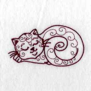 Free Embroidery Design Cat