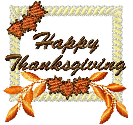 Free Embroidery Design Happy Thanksgiving