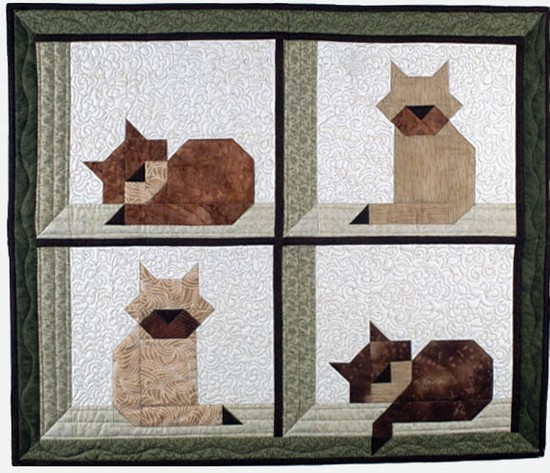 Free Quilt Pattern Cat In The Attic I Sew Free