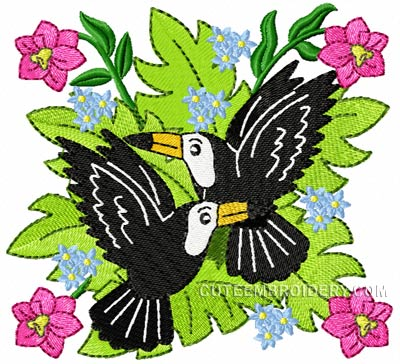 Free Tucan Machine Embroidery Designs