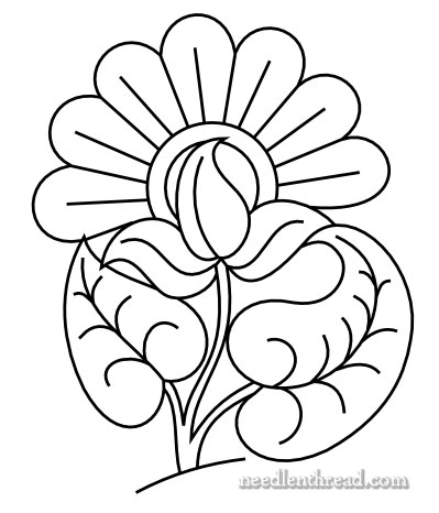 Simple Hand Embroidery Flower Patterns Traffic Club