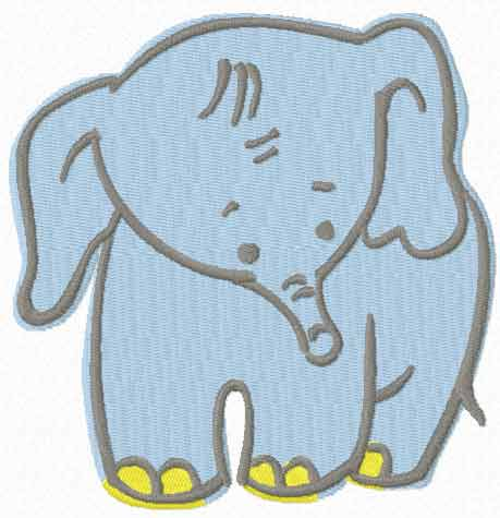 Free Embroidery Design Happy Baby Elephant