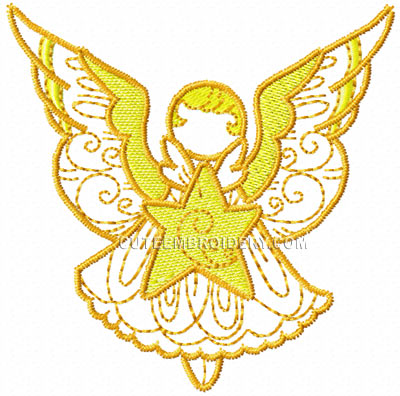 this free embroidery design is an angel just gorgeous it s only free ...