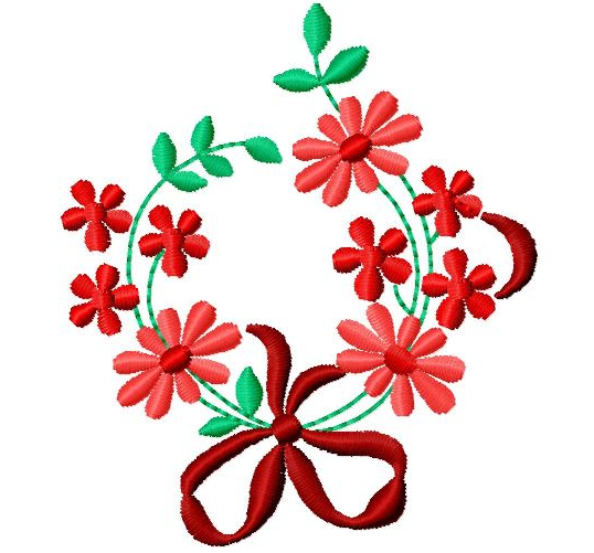 Free embroidery design floral embellishment i sew
