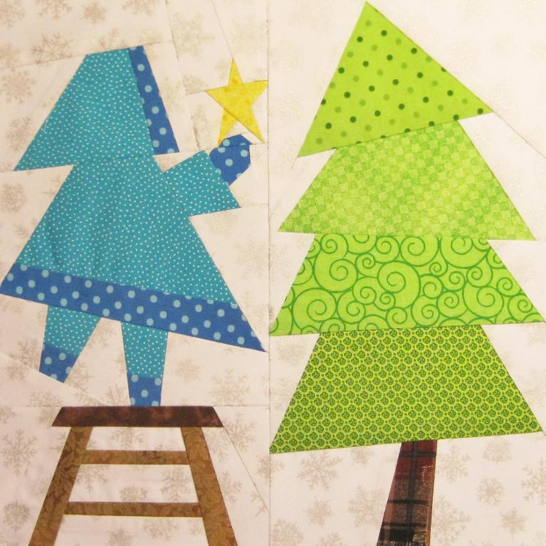Paper Pieced Christmas Tree Pattern: Free Quilt Pattern: Sweet Sue Tops The Tree