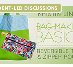 Free Online Sewing Class:  Bag-Making Basics:  Reversible Tote & Zipper Pouch