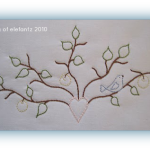 Free Hand Embroidery Pattern:  Little Bird In Tree
