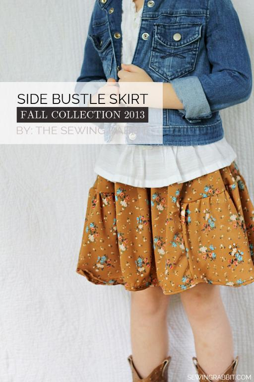 Free Sewing Pattern: Side Bustle Skirt | I Sew Free