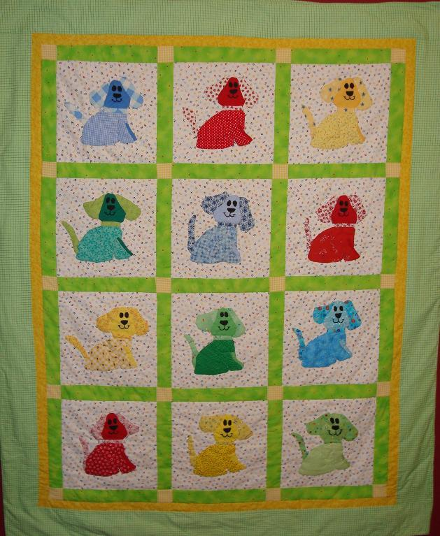 Free Quilt Pattern Puppy Love Baby Quilt I Sew Free Simple Free Quilting Patterns