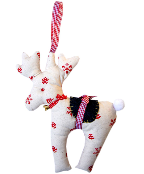 Free Sewing Pattern Reindeer Christmas Ornament I Sew Free