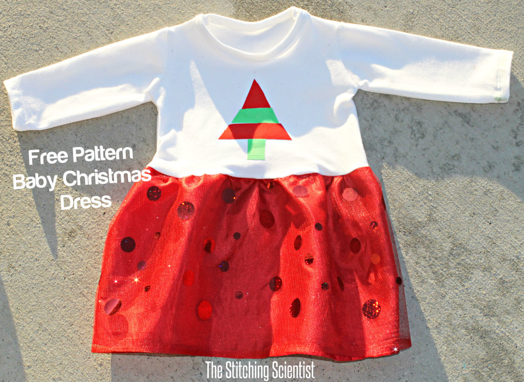 Free sewing pattern baby christmas dress