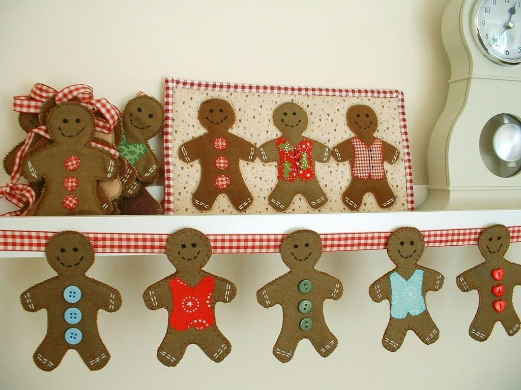 Free Quilt Pattern Gingerbread Man Bunting I Sew Free