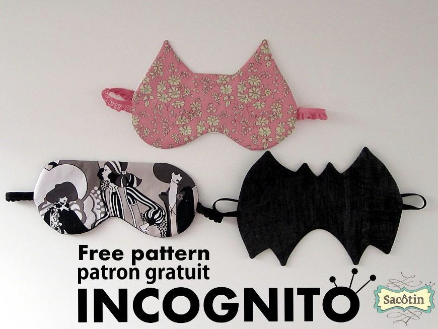 Free Sewing Pattern: Incognito Sleep Mask | I Sew Free