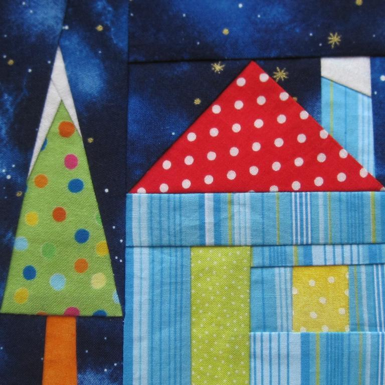 Free Paper Pieced Quilt Patterns Christmas.Free Quilt Pattern Holiday House Paper Pieced I Sew Free