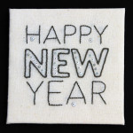 Free Hand Embroidery Pattern:  Happy New Year