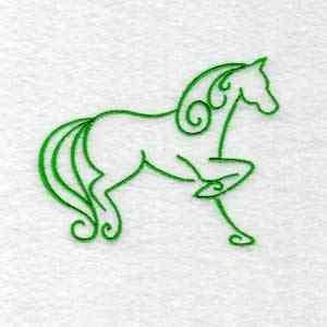 Free Embroidery Design Art Deco Horse