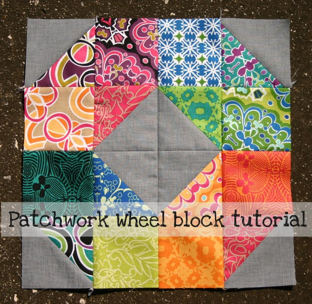 Patchwork Quilt Block Patterns Free : Free Quilt Pattern: Patchwork Wheel Block Tutorial