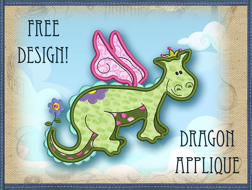 Dragon Applique Designs Free Embroidery Design Dragon