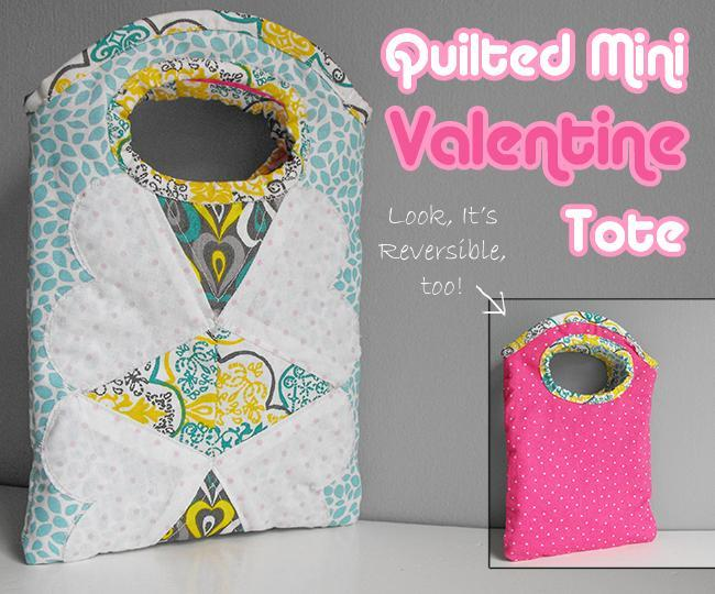 Free Quilting Patterns For Totes : Free Quilt Pattern: Quilted Mini Valentine Tote