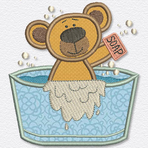 Free embroidery design bath bear for Bathroom embroidery designs