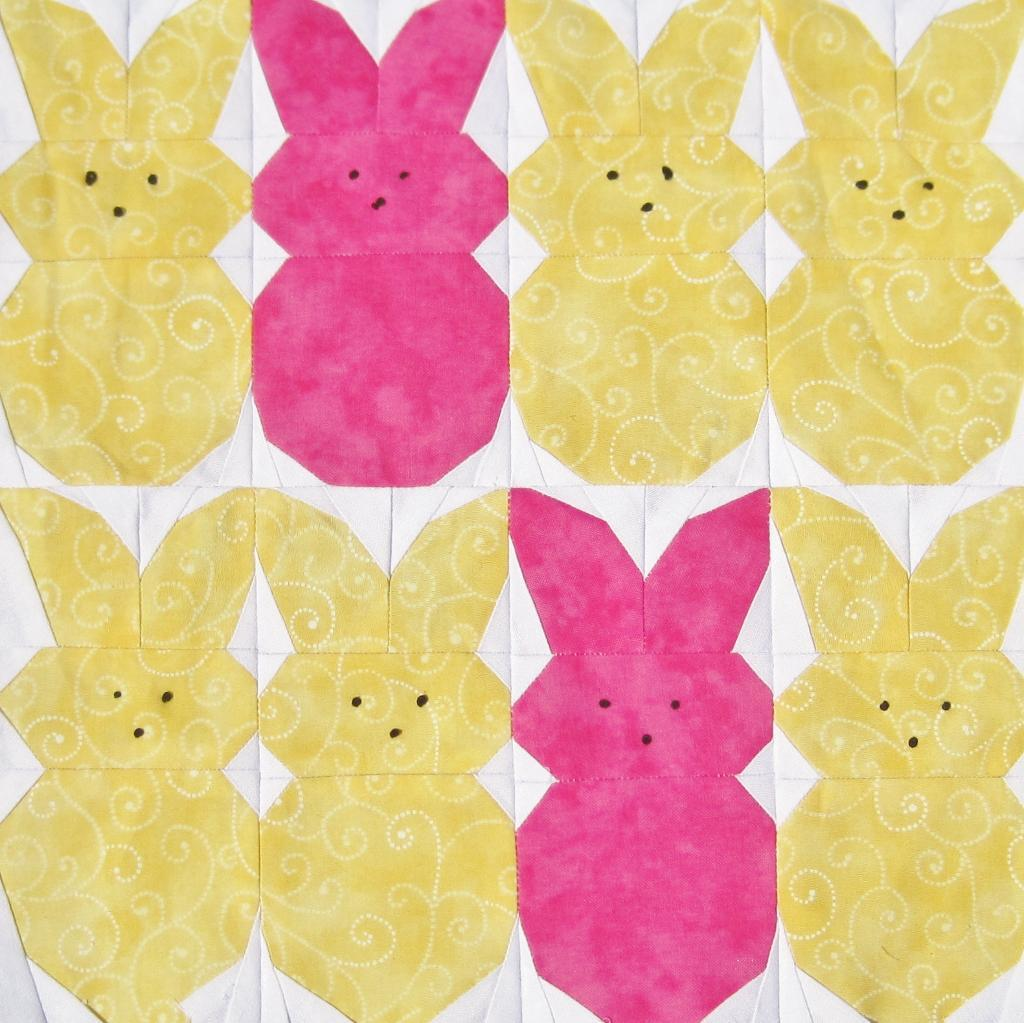 Free Quilt Pattern Peeps Paper Pieced Quilt Pattern
