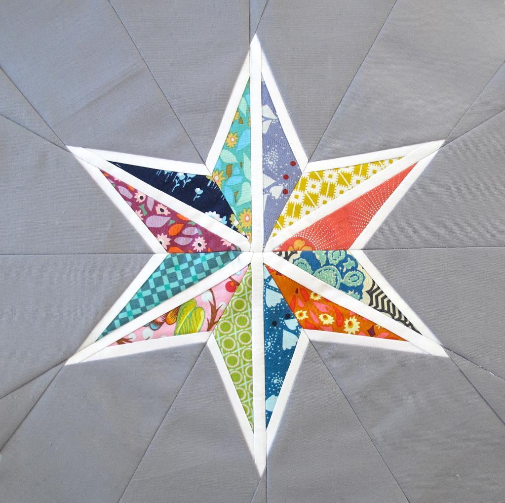 Free quilt pattern star seams block template i sew free for Paper star pattern template