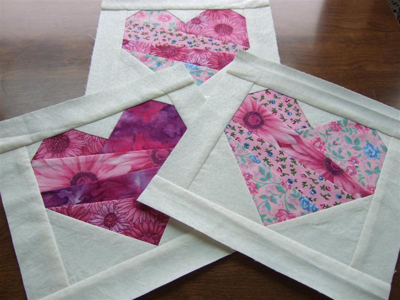 Free Quilt Pattern Crazee Patch Paper Pieced Heart Block