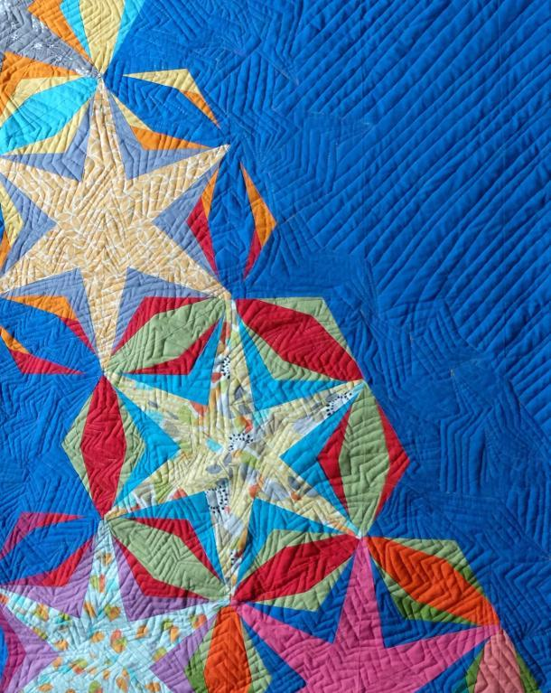 Free Quilt Pattern For Hexagon : Free Quilt Pattern: Simple Star Hexagon Block