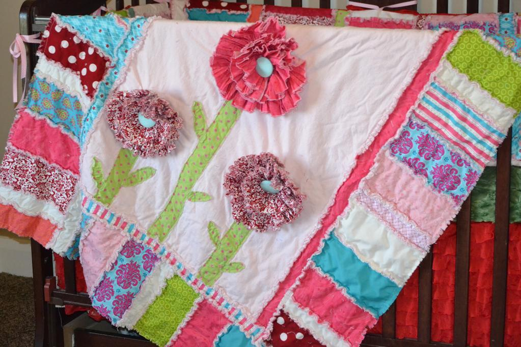 Free Quilt Pattern Ruffled Flower Rag Quilt I Sew Free Fascinating Free Rag Quilt Patterns