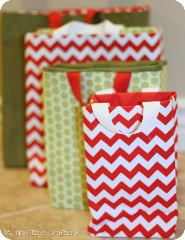 Free sewing pattern fabric gift bags