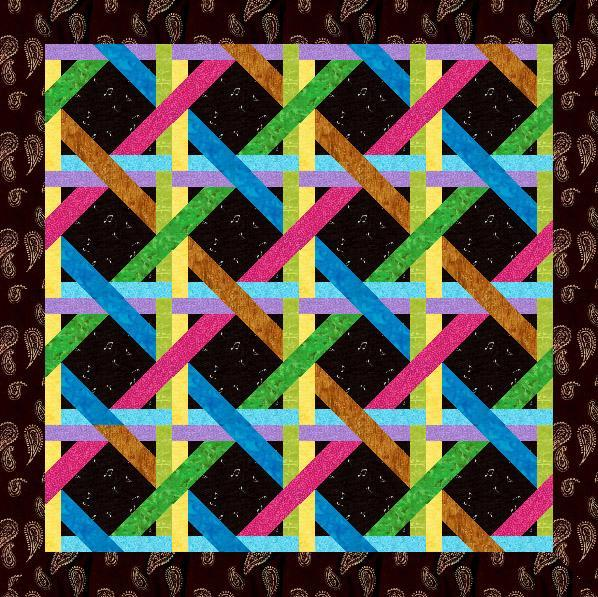 Free Paper Piecing Patterns Quilt Blocks : Free Quilt Pattern: Woven Ribbons Paper Pieced Block
