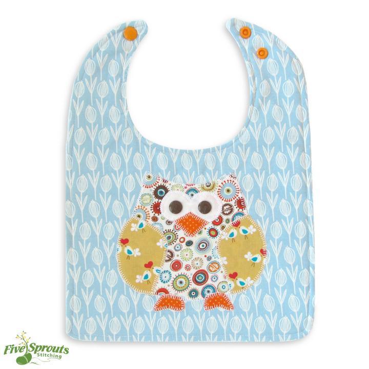 Free Sewing Pattern: Cute Hoot Owl Baby Bib   I Sew Free