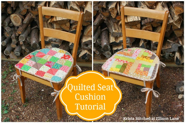 Free Quilt Tutorial: Quilted Seat Cushion | I Sew Free