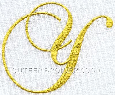 Free Embroidery ...Y Letter Design