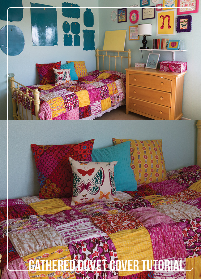 Free Quilt Tutorial Gathered Duvet Cover I Sew Free