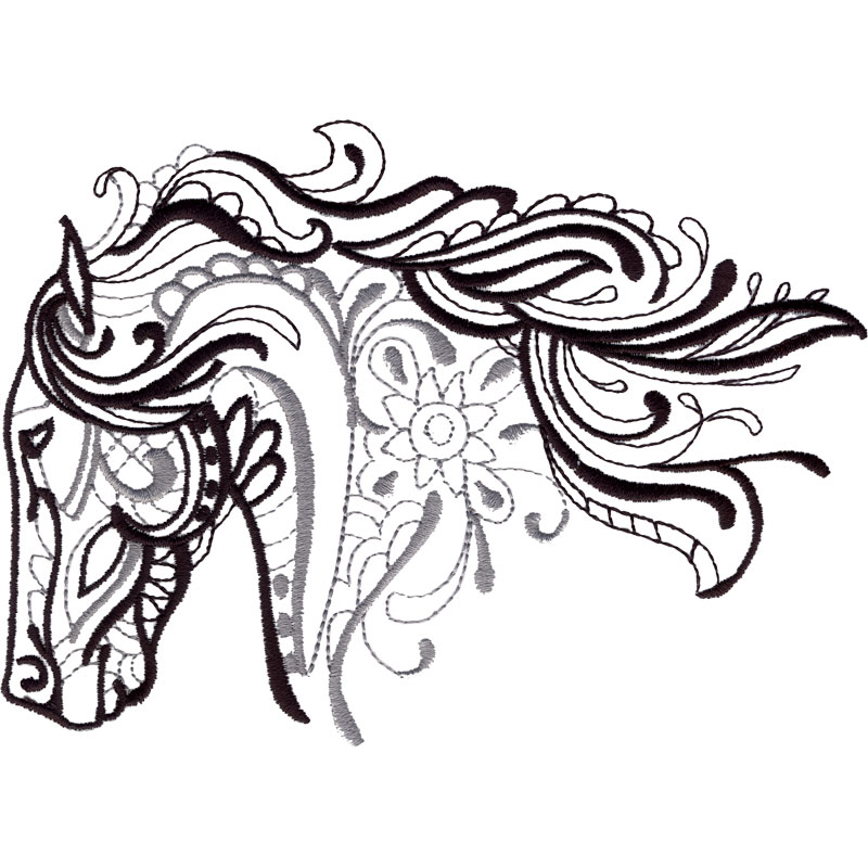 Free Embroidery Design Horse Head