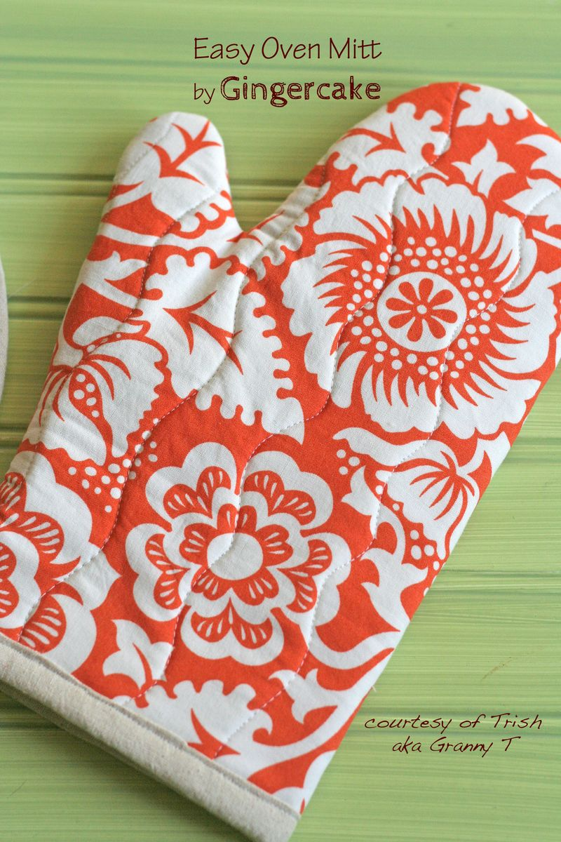 Free Sewing Tutorial Easy Oven Mitt