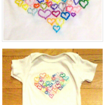 Free Hand Embroidery Pattern:  Onesie With Heart
