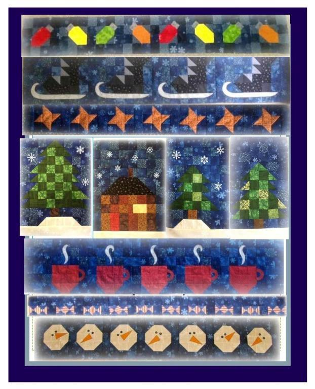 Free Quilt Pattern: BOM 2014 – String of Christmas Lights