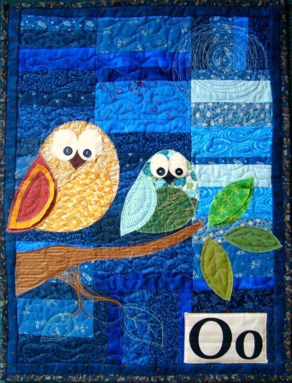 Free Quilt Pattern Owl Applique Wall Hanging I Sew Free
