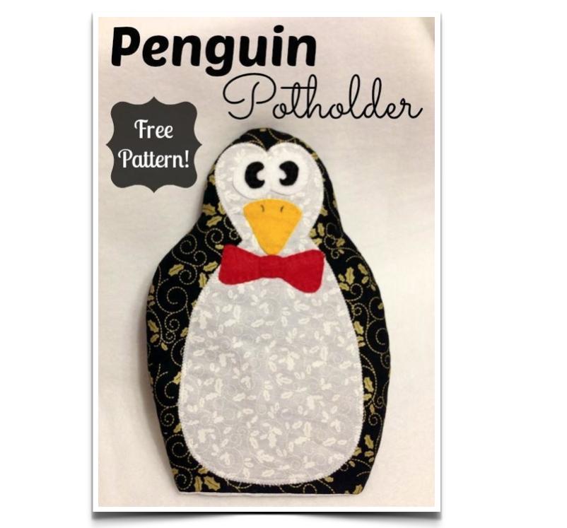 Free Sewing Pattern: Penguin Potholder | I Sew Free