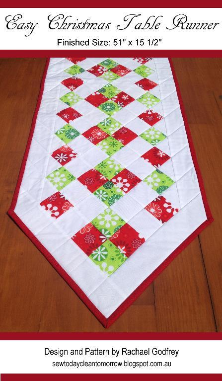 Free Pattern Christmas Quilt Table Runner : Quilts - Table - Bed Runners on Pinterest Table Runners, Christmas Table Runners and Quilted ...