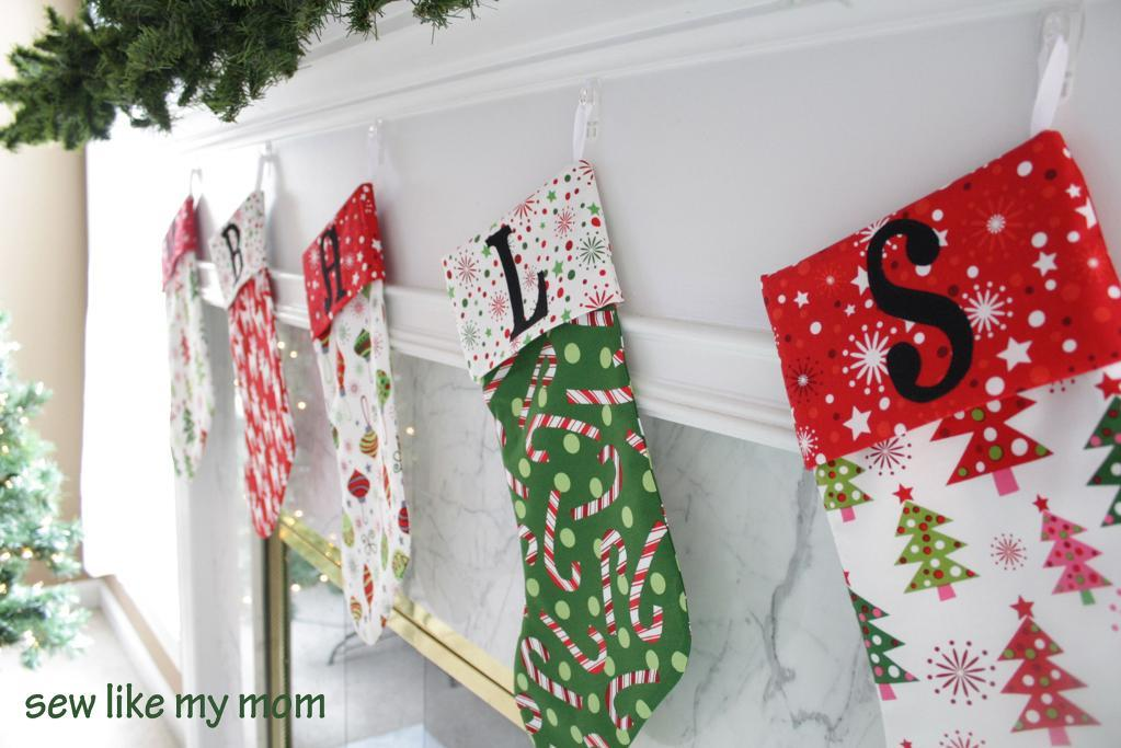 Free Sewing Pattern Christmas Stockings I Sew Free Magnificent Christmas Stocking Sewing Pattern