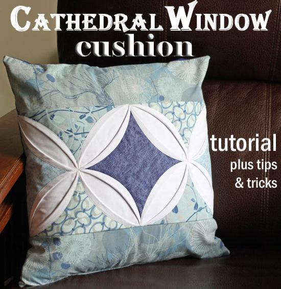Free Sewing Pattern Double Cathedral Window Pillow Cover