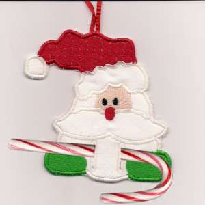Free Embroidery Design In The Hoop Candy Cane Ornament